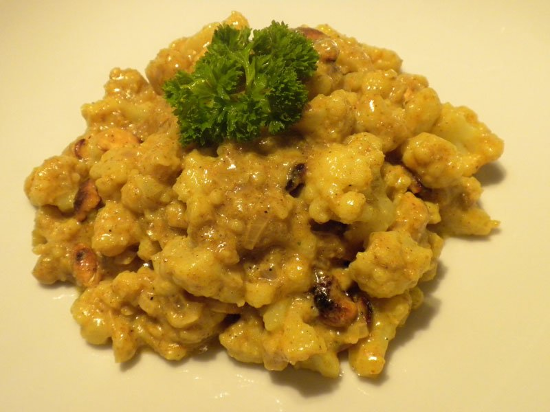 Curry de coliflor