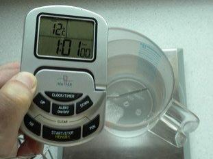 Calculateur de température de l'eau en boulangerie