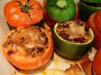 Tomates y calabacines rellenos