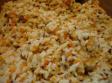 Risotto cremoso con verduras y granos de lino