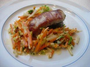 Filete mignon con hierbas y juliana de verduras